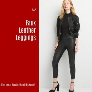 7534f5181cfdac NWT Gap Faux Leather Leggings (3 for $30) (V1)